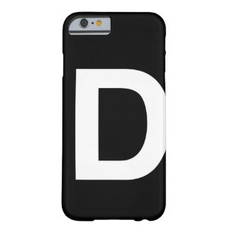 Helvetica Bold letter D Barely There iPhone 6 Case