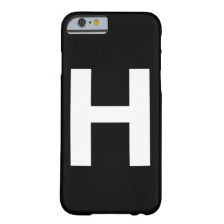 Helvetica Bold letter H Barely There iPhone 6 Case