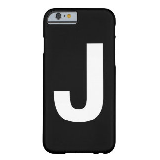 Helvetica Bold letter J Barely There iPhone 6 Case
