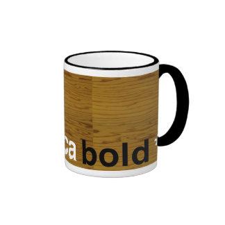 helvetica bold ringer coffee mug