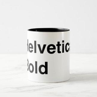 Helvetica Bold Two-Tone Coffee Mug