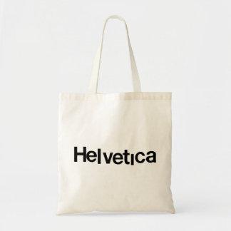 helvetica distorted tote bag