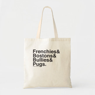 Helvetica Dogs Tote Budget Tote Bag