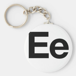 Helvetica Ee Basic Round Button Key Ring