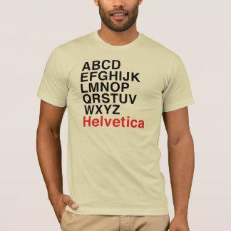 Helvetica Font Alphabet T-Shirt