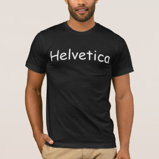 Helvetica in Comic Sans T-shirt