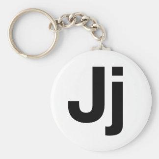 Helvetica Jj Basic Round Button Key Ring