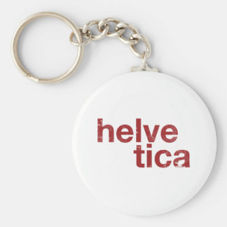helvetica basic round button key ring