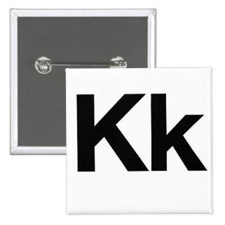 Helvetica Kk Pinback Buttons