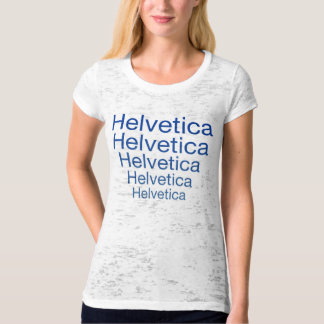 Helvetica Neue Repeating Carny Style T Shirt