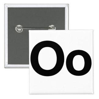 Helvetica Oo Pinback Buttons