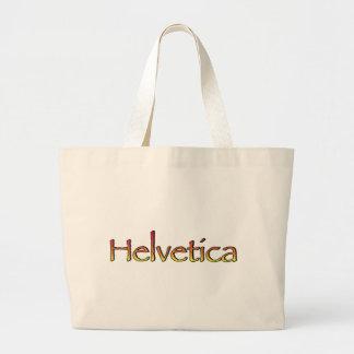 Helvetica Papyrus Jumbo Tote Bag