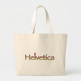 Helvetica Papyrus Large Tote Bag