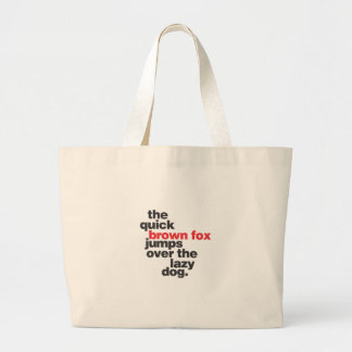 helvetica-quickbrownfox.ai large tote bag