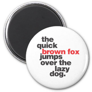 helvetica-quickbrownfox ai refrigerator magnets
