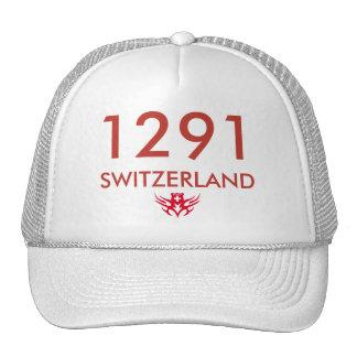 helvetica red, 1291, SWITZERLAND Hat