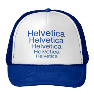 Helvetica Regular Repeating Carny Style Cap