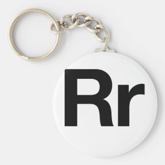 Helvetica Rr Basic Round Button Key Ring