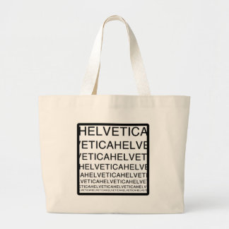 Helvetica Squared Large Tote Bag