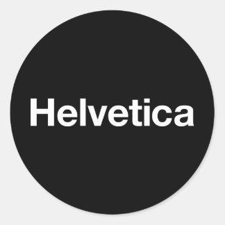 Helvetica Round Stickers