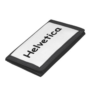 Helvetica Trifold Wallet