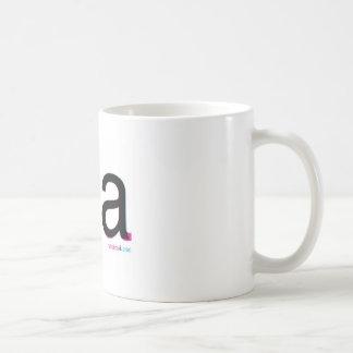 helvetica vs arial tea basic white mug