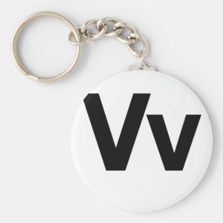 Helvetica Vv Basic Round Button Key Ring