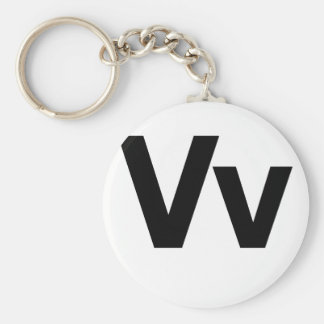 Helvetica Vv Basic Round Button Key Ring