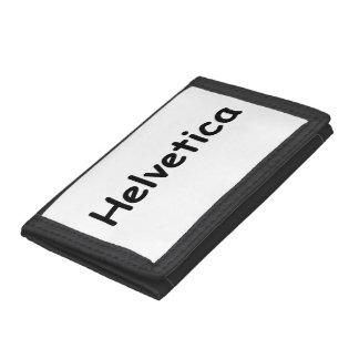 Helvetica Tri-fold Wallets