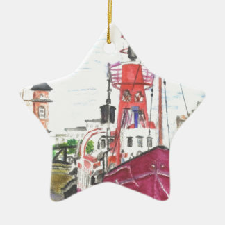Helwick Tug Boat Swansea Christmas Ornament