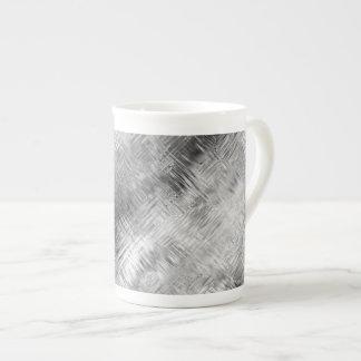 Hematite Grey Scribbled Texture Porcelain Mugs