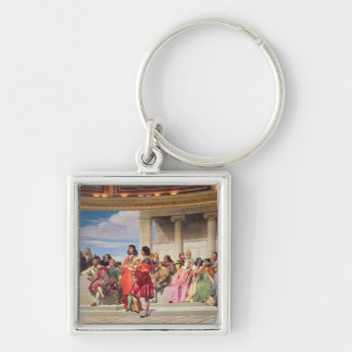 Hemicycle: Artists of All Ages, detail of left han Silver-Colored Square Key Ring