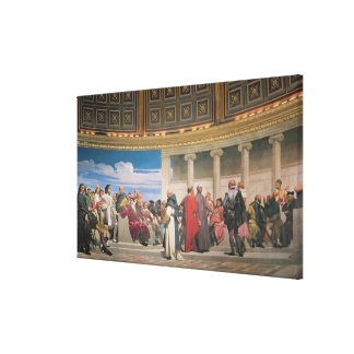 Hemicycle: Artists of All Ages, detail of the righ Canvas Print
