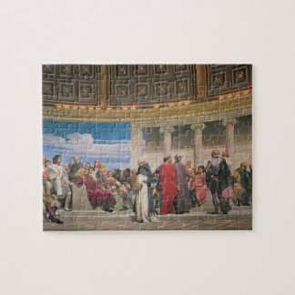 Hemicycle: Artists of All Ages, detail of the righ Jigsaw Puzzle