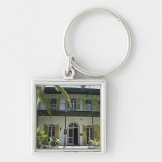 Hemingway's Getaway Silver-Colored Square Key Ring