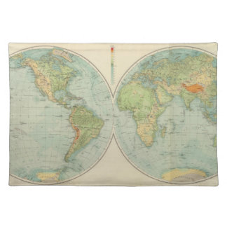 Hemispheres 12 physical placemat