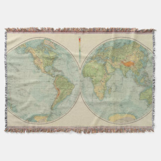 Hemispheres 12 physical throw blanket