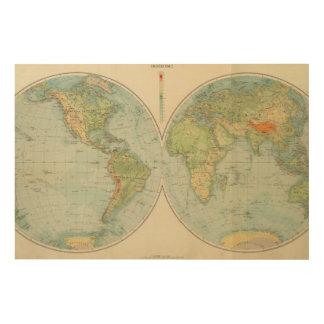 Hemispheres 12 physical wood wall art