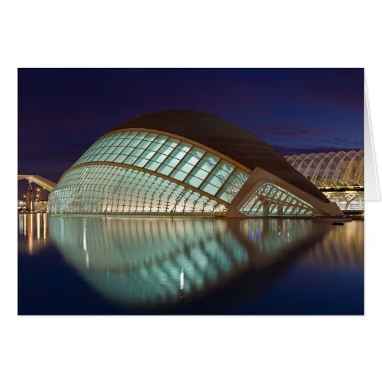 Hemispheric in Valencia Spain Card