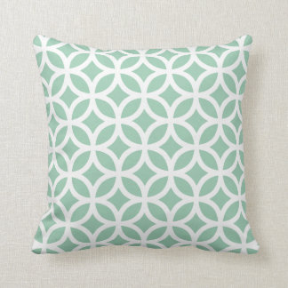 Hemlock Green Modern Geometric Pillow