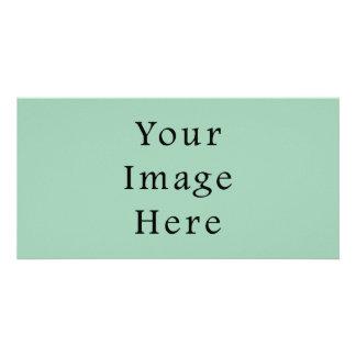 Hemlock Light Green Color Trend Blank Template Personalised Photo Card