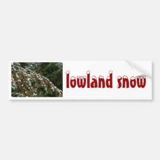 Hemlock with Lowland Snow - Olympia WA Bumper Sticker