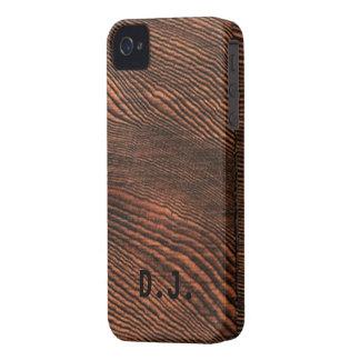 Hemlock Wood Grain Blackberry BOLD case *Monogram*