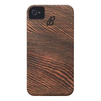 Hemlock Wood Grain iPhone 4 case Monogram