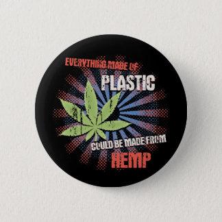 Hemp Plastic 6 Cm Round Badge
