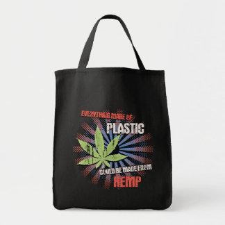Hemp Plastic Tote Bag