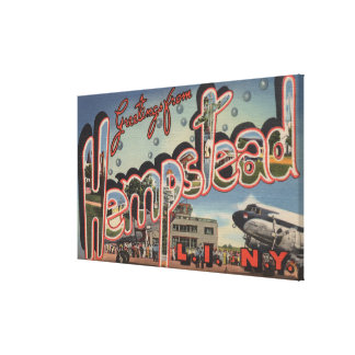 Hempstead, New York - Large Letter Scenes Canvas Print