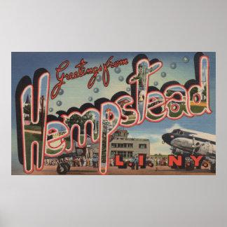 Hempstead New York - Large Letter Scenes Print