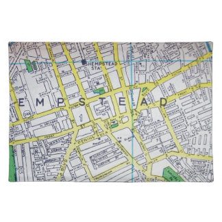 Hempstead, NY Vintage Map Placemat