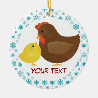 Hen and Chick Christmas Ornament Gift